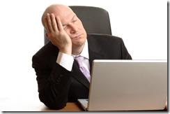 Businessman Sleeping at work